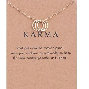 Jewelry - Tri-ring circle karma necklace